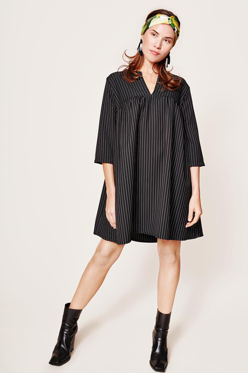 DRESS Bonnie black stripes