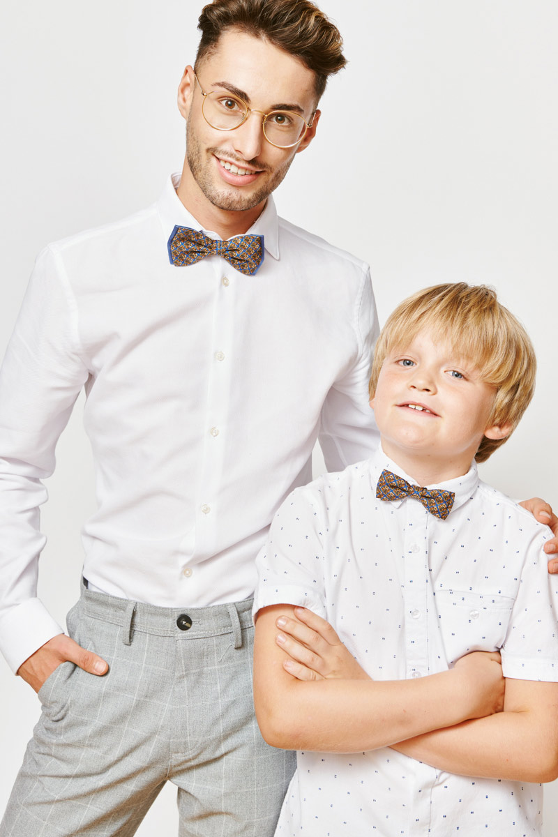 brown bowtie for dad and son