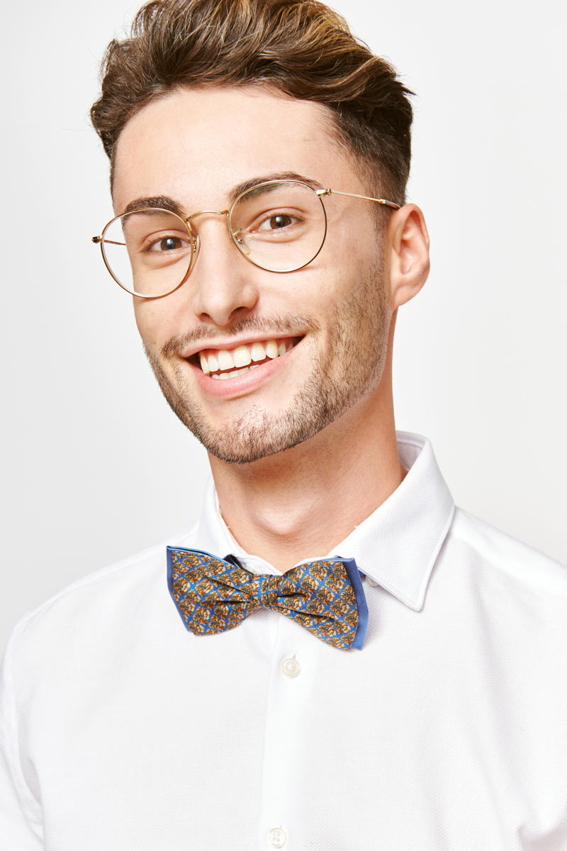 man with a brown bowtie