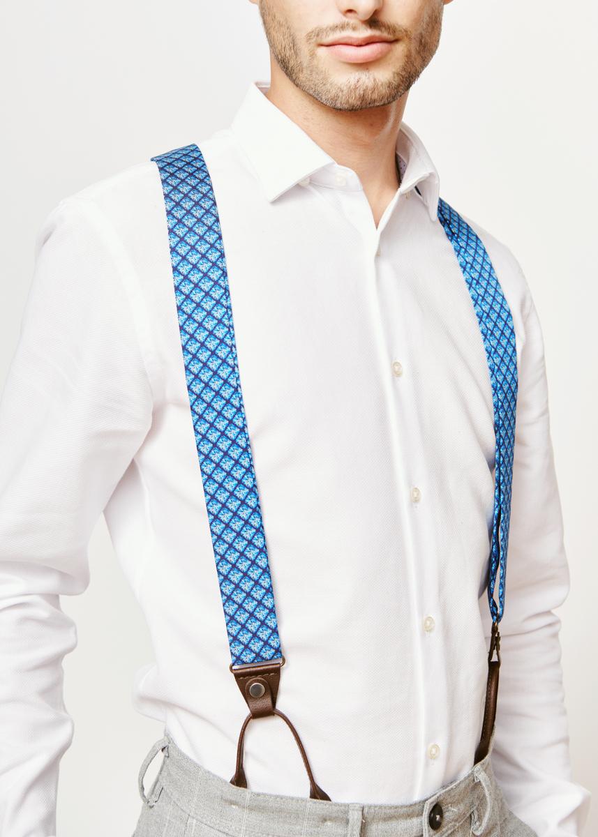 blue suspenders for men