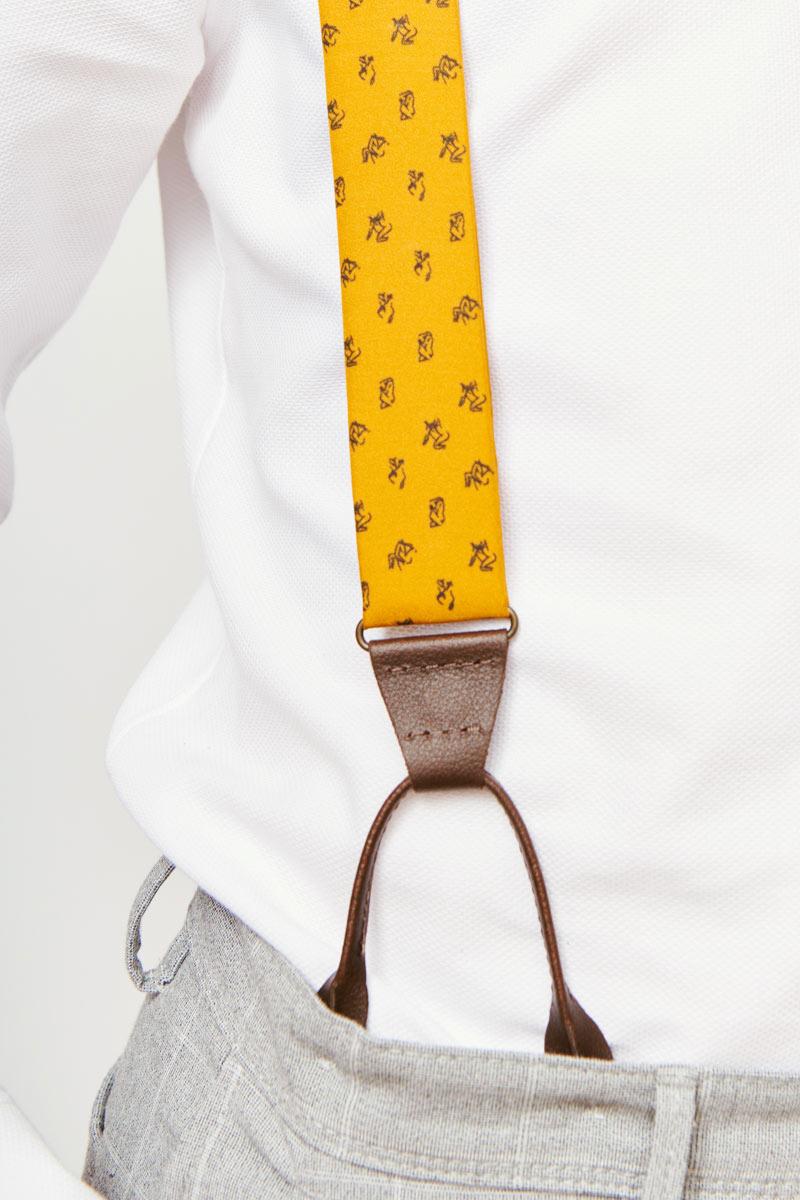 yellow suspenders for men