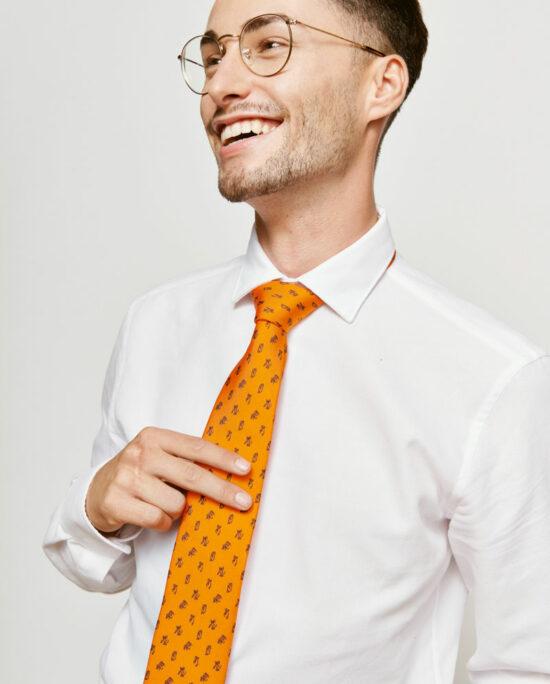 orange tie for men