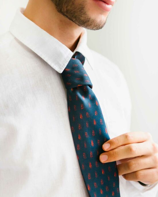 blue tie for men