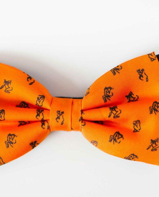 orange bowtie for men
