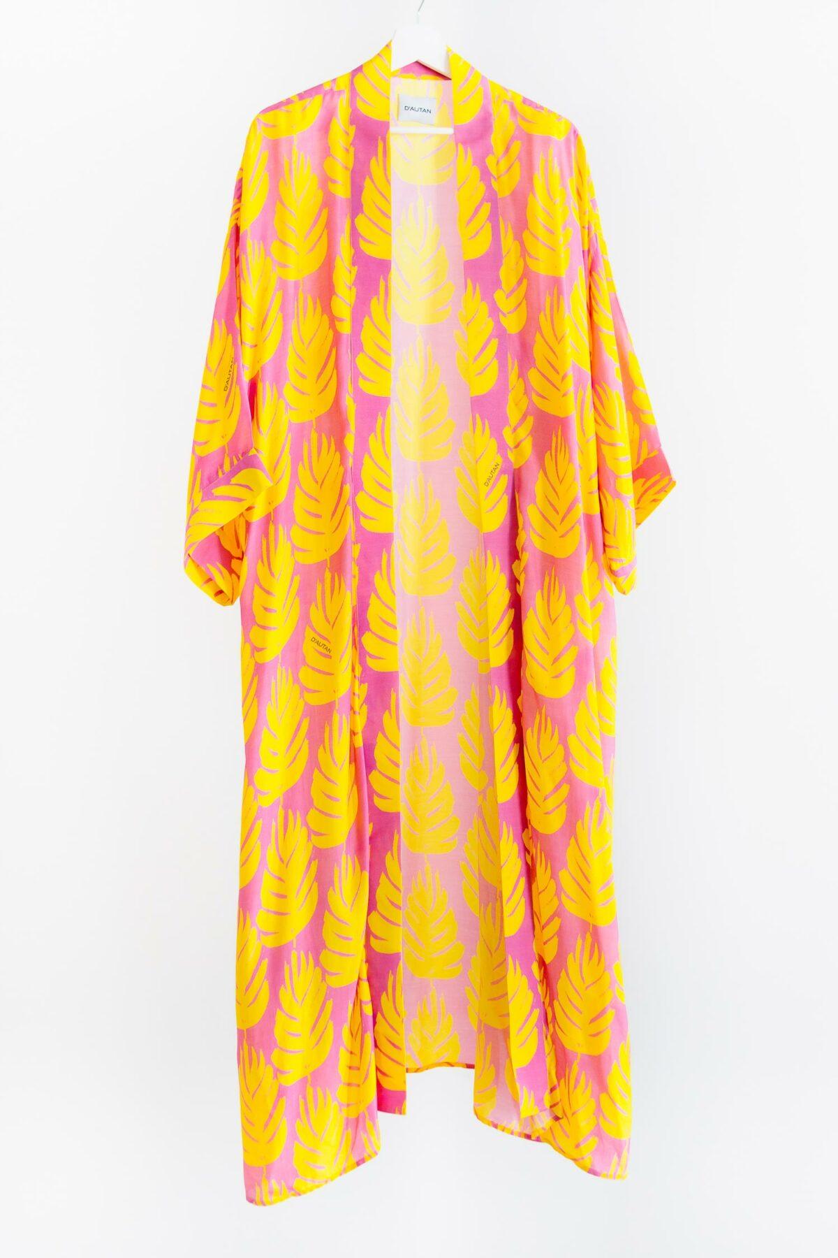 yellow and pink kimono
