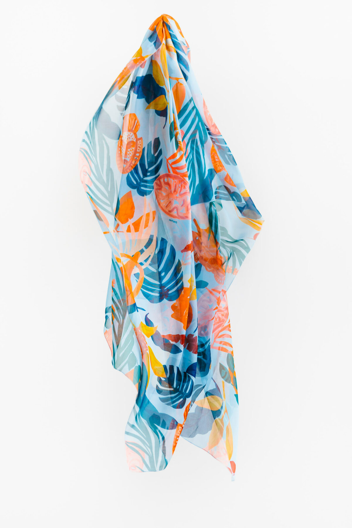 blue and orange scarf