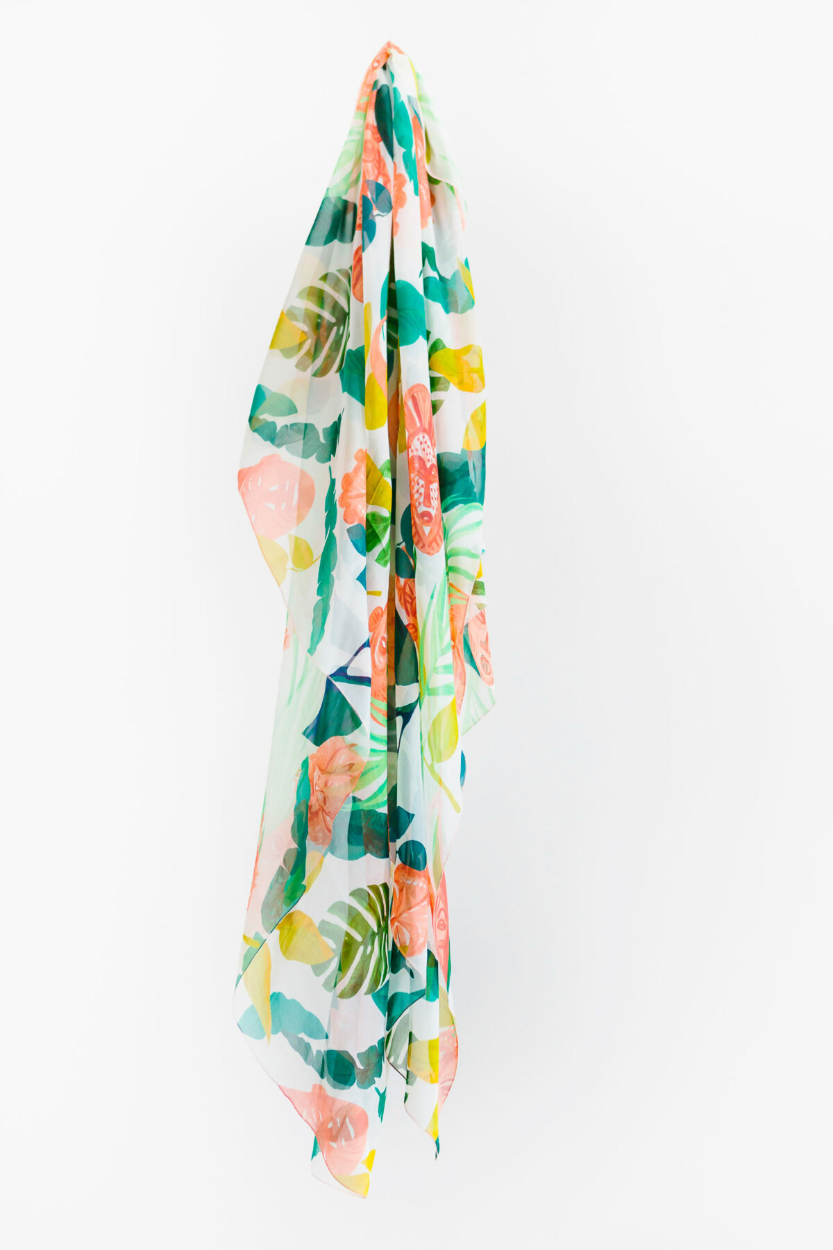 green and orange scarf