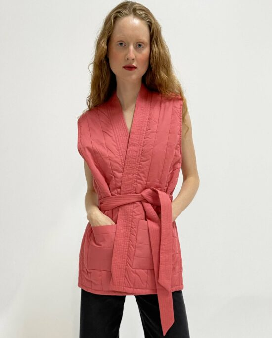 quilted jacket lucie blush