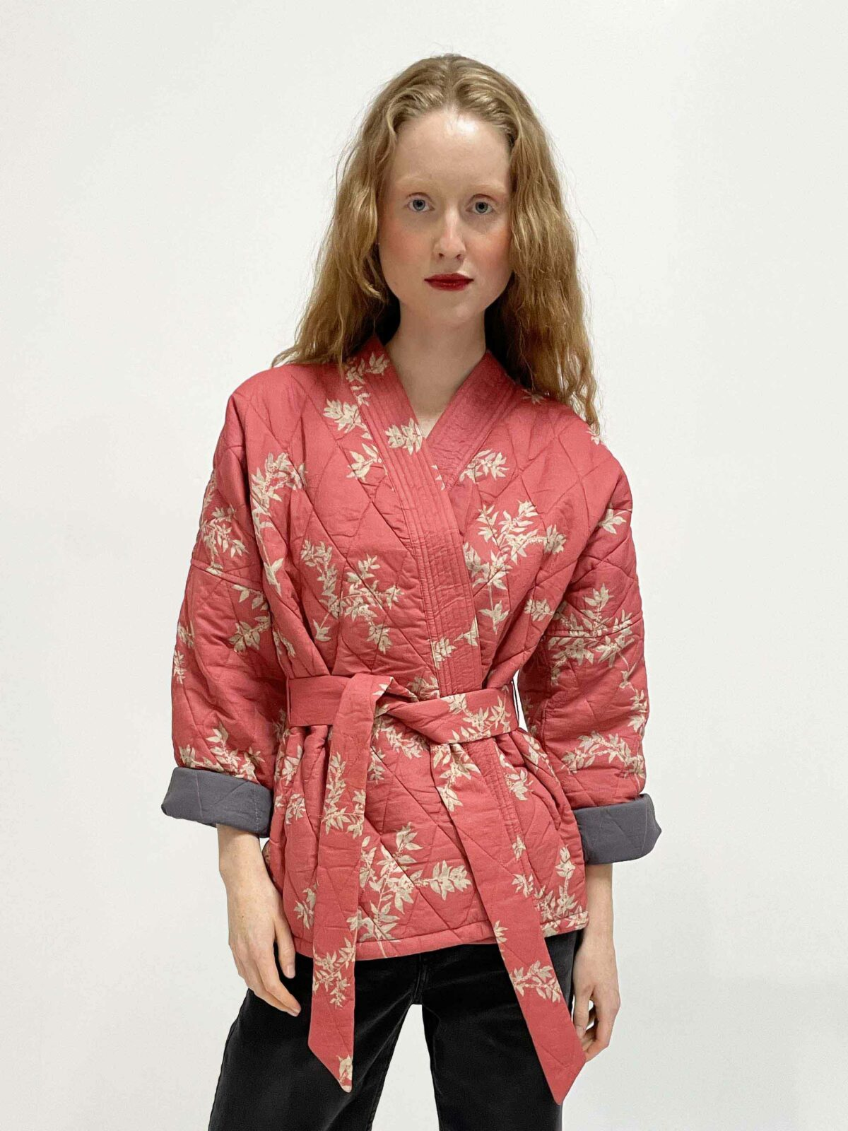 Quilted kimono neva blush pink